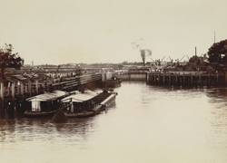 Entrance to Calcutta Docks from River